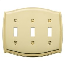Polished Brass Colonial Triple Toggle