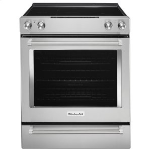 KitchenAid30-Inch 5-Element Electric Slide-In Convection Range Stainless Steel