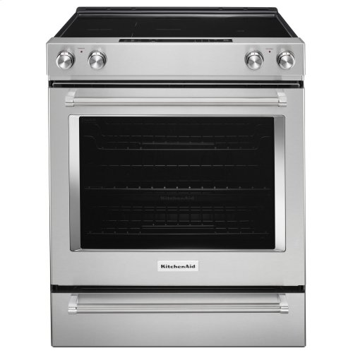 30-Inch 5-Element Electric Slide-In Convection Range Stainless Steel