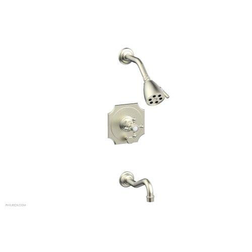 HENRI Pressure Balance Tub and Shower Set 161-29 - Satin Nickel