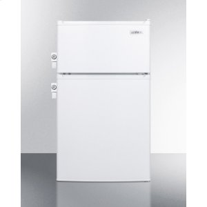 SummitADA Compliant Compact Energy Star Listed Two-door Refrigerator-freezer With Two Side Locks, Cycle Defrost and Zero Degree Freezer