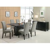 Stanton Contemporary Black Rectangular Dining Table