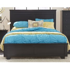 4/6 - 5/0 Full/Queen Panel Bed - Black Finish