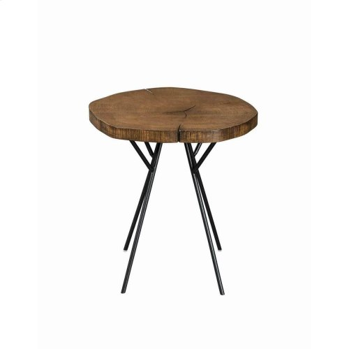 Rustic Brown Tree Trunk-inspired Accent Table