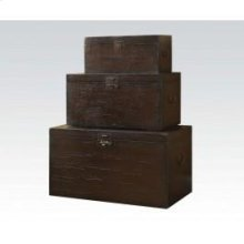 Dark Oak 3pc Pk Stacking Trunk