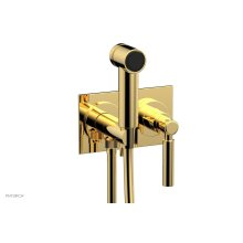 BASIC Wall Mounted Bidet, Lever Handle 130-65 - Polished Gold