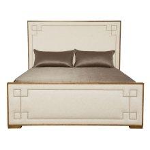 Queen-Sized Soho Luxe Upholstered Bed in Dark Caramel (368)