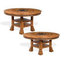 "Sedona 60"" Round Dual Height Dining Table w/ Lazy Susan"