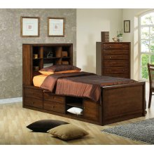 Hillary Twin Bookcase Bed