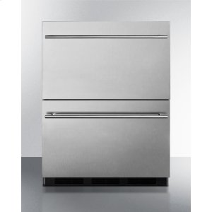 SummitCommercially Approved ADA Compliant Two-drawer Refrigerator In Stainless Steel for Built-in Use