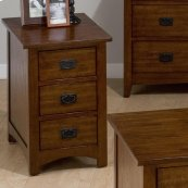 Chairside Table W/ 3 Drawers