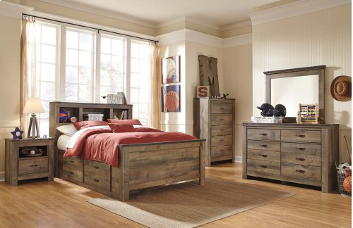 Full Bookcase Bed w/ Storage