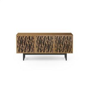 Bdi FurnitureTriple Wide Cabinet W Media Base in Wheat Doors Natural Walnut