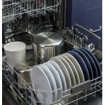 GE ®Top Control with Stainless Steel Interior Dishwasher with Sanitize Cycle & Dry Boost with Fan Assist