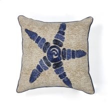 "L109 Starfish Elegance Pillow 18"" X 18"""