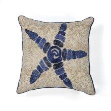 """L109 Starfish Elegance Pillow 18"""" X 18"""""""