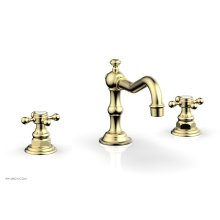 HENRI Widespread Faucet - Cross Handles 161-01 - Polished Brass Uncoated