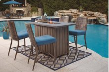 Bar Fire Pit  Pub Table 5 PIECE SET