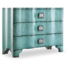 Living Room Melange Turquoise Crackle Chest
