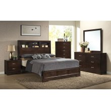 4233 City Loft Queen BED COMPLETE; Queen HB, FB, Rails & Slats