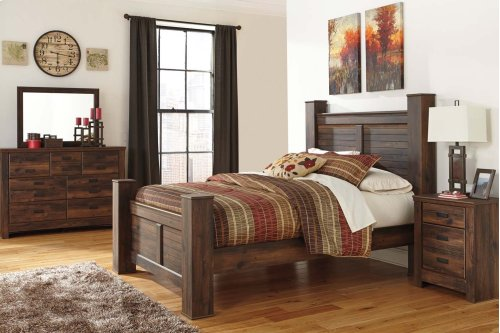 King Poster Bed w/ Storage