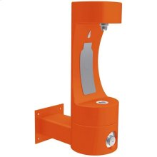 Elkay Outdoor EZH2O Bottle Filling Station Wall Mount, Non-Filtered Non-Refrigerated Orange