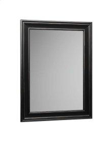 "Traditional 24"" x 32"" Solid Wood Framed Bathroom Mirror in Antique Black"