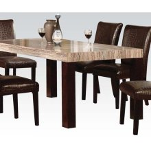 FRASER DINING TABLE W/FAUX MBL