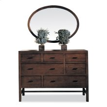 Oval Wall Hung Mirror