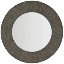 Linea Round Mirror in Cerused Charcoal (384)