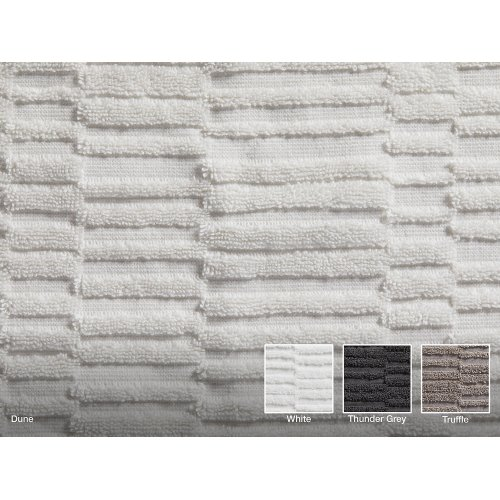 "Thunder Grey Bath Sheet With Tatami Weave, 35"" X 70"""