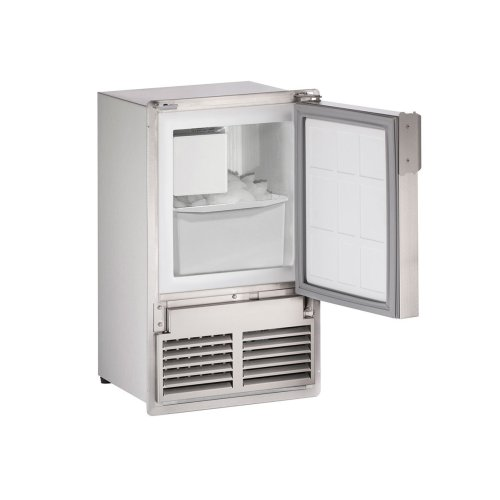 """Marine Series 14"""" Marine Crescent Ice Maker With Stainless Solid Finish and Field Reversible (no Flange) Door Swing (220-240 Volts / 50 Hz)"""