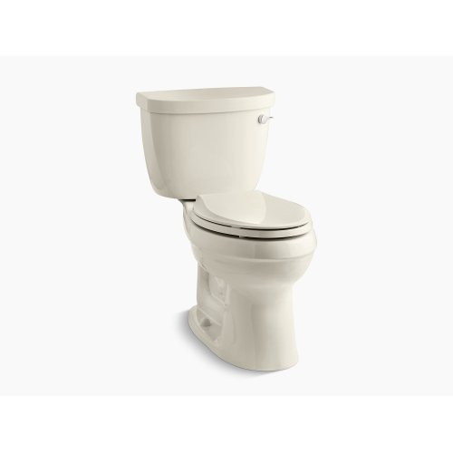 Almond Comfort Height Two-piece Elongated 1.28 Gpf Toilet With Aquapiston Flushing Technology, Right-hand Trip Lever and Tank Cover Locks, Seat Not Included