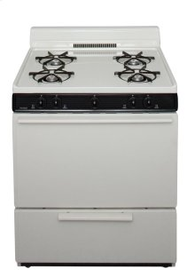 30 in. Freestanding Gas Range in Biscuit