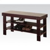 Espresso Bench W/shoe Rack Product Image