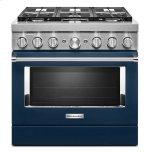 KitchenaidKitchenAid(R) 36'' Smart Commercial-Style Dual Fuel Range with 6 Burners Ink Blue