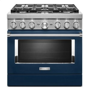 KitchenaidKitchenAid® 36'' Smart Commercial-Style Dual Fuel Range with 6 Burners Ink Blue