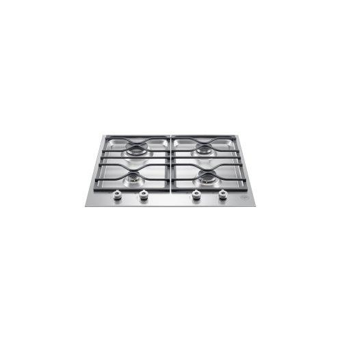 24 Segmented cooktop 4-burner Stainless Steel