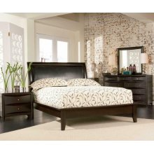 Phoenix Deep Cappuccino King Four-piece Bedroom Set