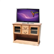 A-T303 Traditional Alder 2-Glass Door Console Table