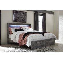 Baystorm - Gray 4 Piece Bed Set (King)