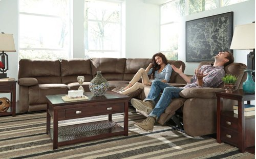 Ashley 4-Piece Sectional with RAF Power Reclining Loveseat