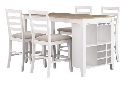 Gardomi - White/Light Brown 3 Piece Dining Room Set