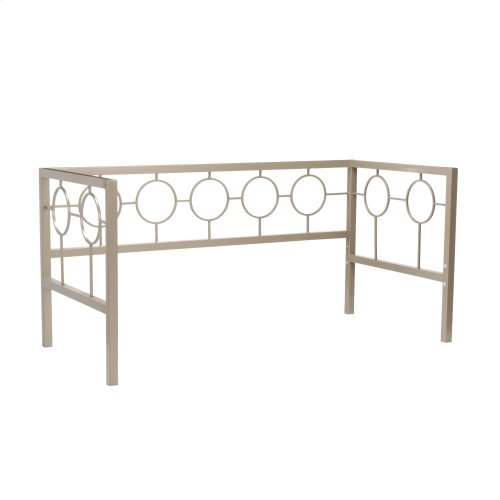 Astoria Complete Metal Daybed with Link Spring Support Frame and Circle Design Panels, Champagne Finish, Twin