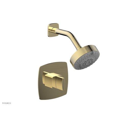 RADI Pressure Balance Shower Set - Blade Handle 181-21 - Polished Brass Uncoated