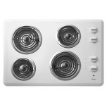"Whirlpool30"" Electric Cooktop with Dishwasher-Safe Knobs"