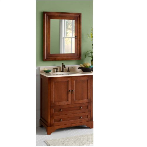 "Milano 30"" Bathroom Vanity Cabinet Base in Colonial Cherry"