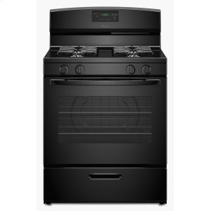 30-inch Gas Range with Easy Touch Electronic Controls - Black - BLACK