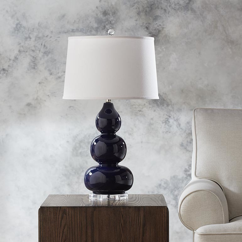 navy table lamp navy shade hollins navy table lamp 811b3044t in by bassett furniture victoria tx