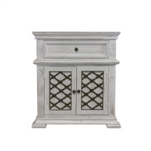 Irondale White Nightstand